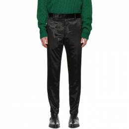 Paul Smith Black Crushed Velvet Trousers M1R-199T-A00754