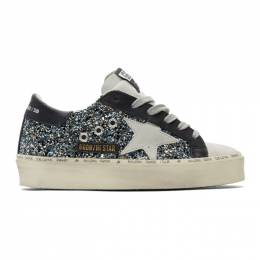 Golden Goose Deluxe Brand Black and Blue Hi Star Sneakers G35WS945.H1