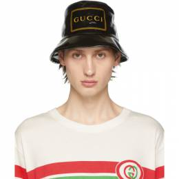 Gucci Black Montecarlo Crystal Bucket Hat 576371 4HG80