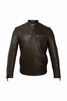 leather jacket ZERIMAR 10010784_MARRON
