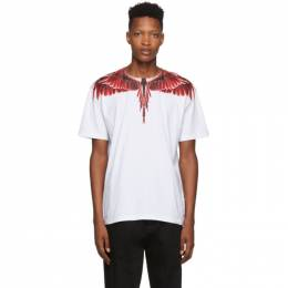 Marcelo Burlon County Of Milan White Red Ghost Wings T-Shirt 192539M21300302GB