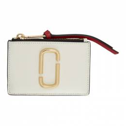 Marc Jacobs Off-White Snapshot Top Zip Multi Card Holder 192190F03700101GB
