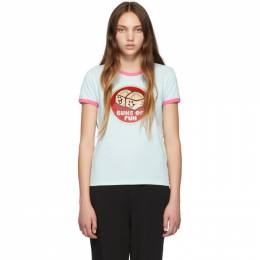 Marc Jacobs Blue The Ringer T-Shirt 192190F11000602GB