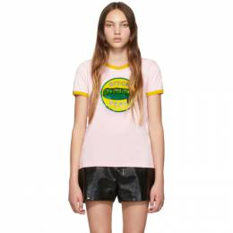 Marc Jacobs Pink The Ringer T-Shirt 192190F11000503GB