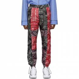 Palm Angels Black and Red Bandana Patchwork Aftersport Track Pants PMCA042E196060068800
