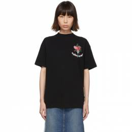 Palm Angels Black Flowers T-Shirt 192695F11000903GB