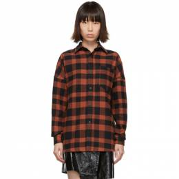 Palm Angels Red Check Logo Shirt 192695F10900103GB