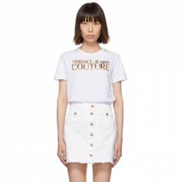 Versace Jeans Couture White Logo T-Shirt 192202F11000104GB