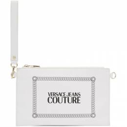 Versace Jeans Couture White Stamped Logo Pouch 192202F04500201GB