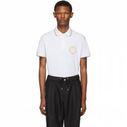Versace Jeans Couture White Medallion Polo 192202M21200203GB