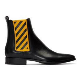 Off-White Black and Yellow Chelsea Boots 192607M22300201GB