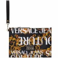 Versace Jeans Couture Black and Gold Logo Barocco Pouch 192202M17100101GB