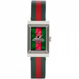 Gucci Green and Red G-Frame Watch YA147408