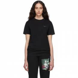 Off-White Black and Silver Unfinished Slim T-Shirt OMAA027E191850031091
