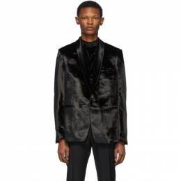 Paul Smith Black Crushed Velvet Blazer M1R-1918-A00754