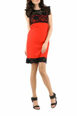 DRESS Foggy FG211_RED_BLACK