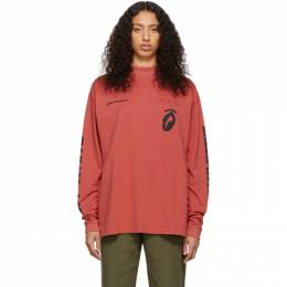 Off-White Red Splitted Arrows Over Mock T-Shirt OMAB032E191850102010