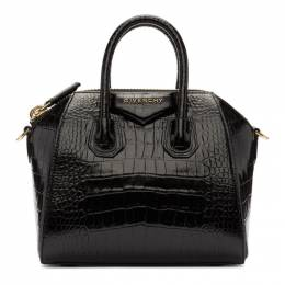 Givenchy Black Croc Mini Antigona Bag BB500JB0LK