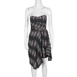 Isabel Marant Etoile Anouk Strapless Printed Silk Dress XS 137518