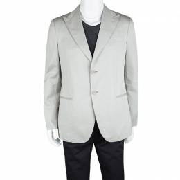 Giorgio Armani Grey Cotton Tailored Blazer XL 112495