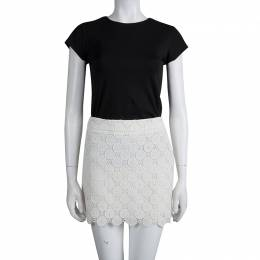 Miu Miu Cream Lace Mini Skirt S 79546