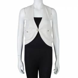 Chanel Cream Cashmere Vest S 59739
