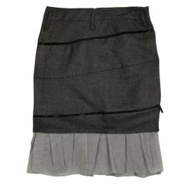 Balenciaga Ruffle Hem Pencil Skirt M 20717