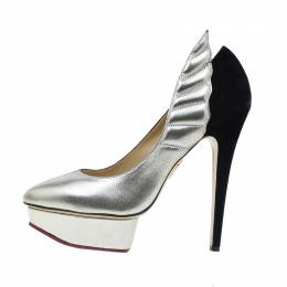 Charlotte Olympia Two Tone Leather Mercury Platform Pumps Size 39 42334
