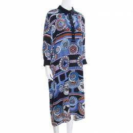 Peter Pilotto Silk Digital Abstract Printed Kaftan Maxi Dress ( One Size ) 163316