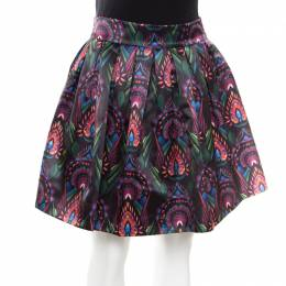 Alice+Olivia Ombre Deco Printed Pleated A Line Stora Skirt XS
