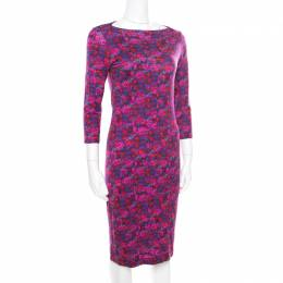 Erdem Multicolor Floral Printed Jersey Reese Dress M 174880