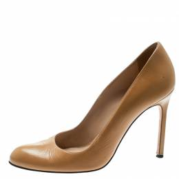 Manolo Blahnik Beige Leather BB Pumps Size 38.5 178873
