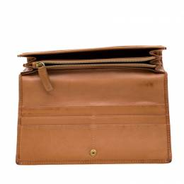 Loewe Tan Signature Leather Continental Wallet 193643