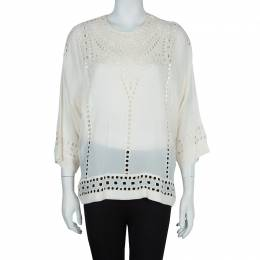 Isabel Marant Etoile White Embriodered Top S 57532