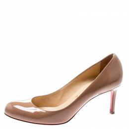 Christian Louboutin Beige Patent Leather Simple Pumps Size 39.5 195199