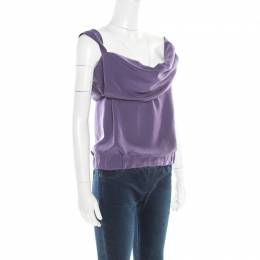 Vivienne Westwood	 Red Label Purple Draped Sleeveless Top S