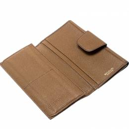 Bvlgari Brown Leather Trifold Wallet 195978