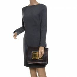 Tom Ford Black Leather Large Natalia Clutch 170350