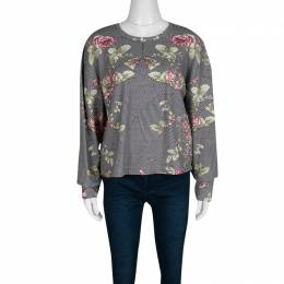 Rose and Houndstooth Print Long Sleeve Sweatshirt M McQ by Alexander McQueen 138083
