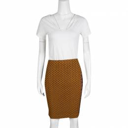 Missoni Multicolor Textured Knit Pencil Skirt M 138075