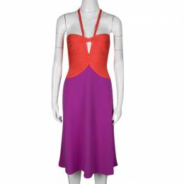 Herve Leger Color Block Cutout Detail Sleeveless Emmaline Dress S 136543