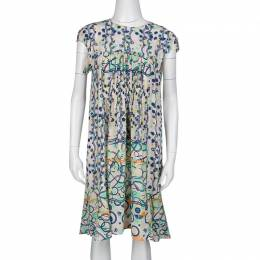 Peter Pilotto Multicolor Abstract Print Washed Silk Kali Dress M 136397