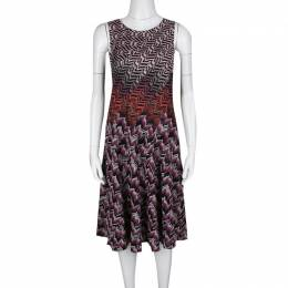 Missoni Multicolor Patterned Lurex Jacquard Knit Sleeveless A Line Dress M 136445