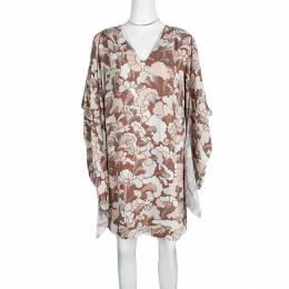 Marc Jacobs Floral Printed Long Sleeve V-Neck Tunic and Scarf Set M 121330