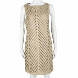 Ralph Lauren Beige Cut Out Detail Severina Dress M 113017