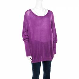 Loro Piana Purple Linen and Silk Sweater M 172320