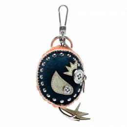 Burberry	 Derek The Bird Clementine Wool Embellished Key Ring / Bag Charm