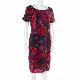Erdem Multicolor Floral Printed Silk Belted Dress M 175555