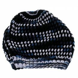 Missoni Multicolor Chunky Knit Cashmere and Wool Beanie 180701