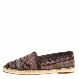 Dolce and Gabbana Bicolor Braided Leather Espadrilles Size 45 160600